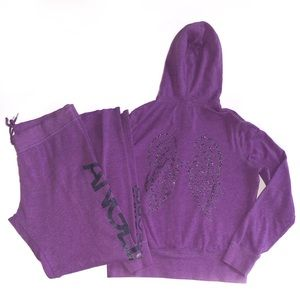 VS Purple Two Piece Outfit